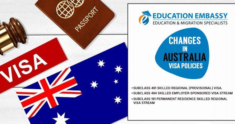 Changes in Australia Visa policies