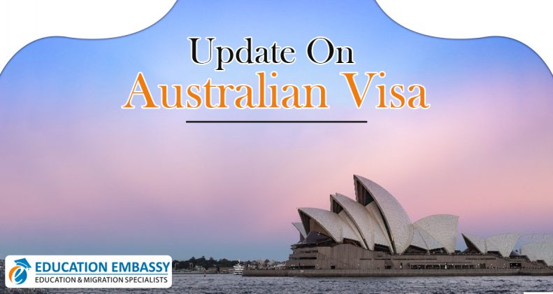 About the update on Australian visa due to Coronavirus