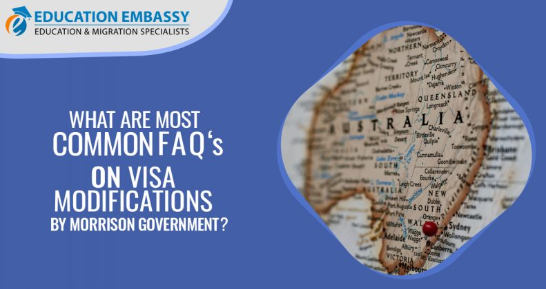 What are the most common FAQs on visa modifications by the Morrison Government