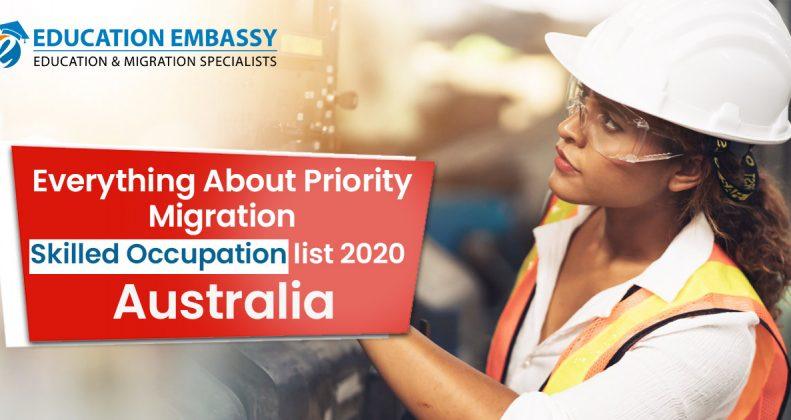 migration skilled occupation list 2020 Australia